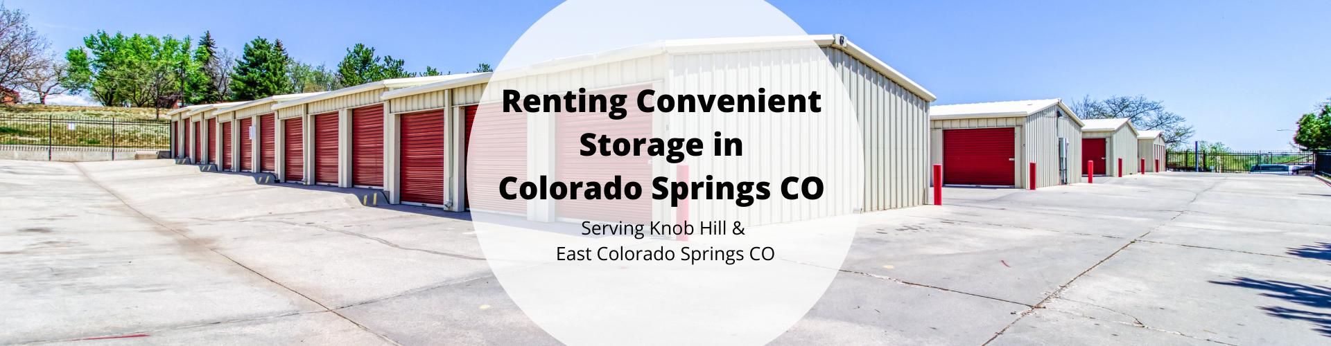 Storage in Colorado Springs CO