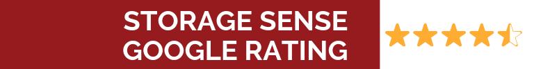 Storage Sense Google Rating