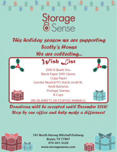 Bryan TX Holiday Donations