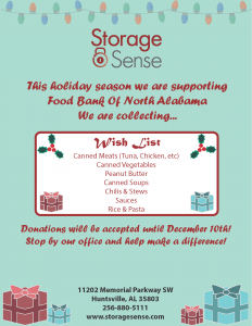 Huntsville AL Holiday Charity