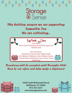 McKinney TX Holiday Giving List