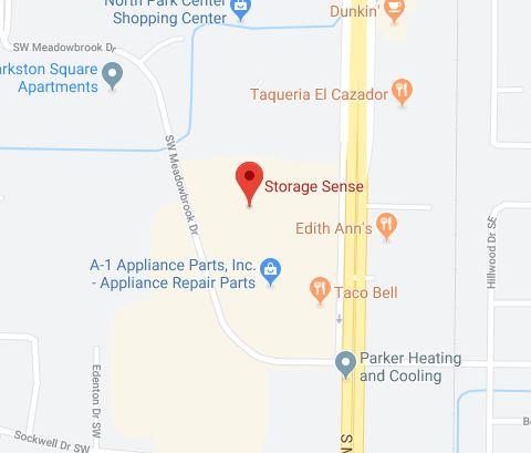 Huntsville AL Self Storage Map