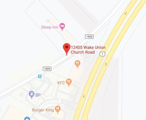 Wake Forest NC Self Storage Map