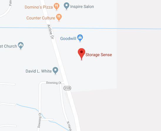 Bossier City LA Storage Map