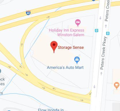 Winston-Salem NC Peters Creek Pkwy Map