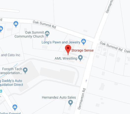 Winston-Salem NC Germanton Road Map