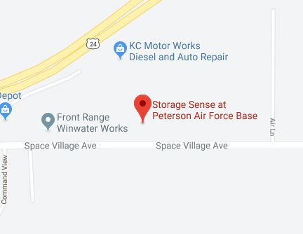 Peterson Air Force Base Storage Sense Map