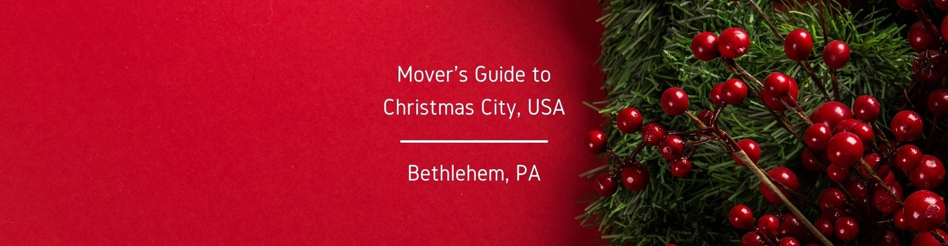 Mover's Guide to Bethlehem PA